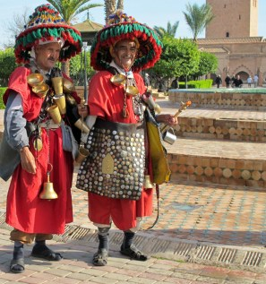 Water sellers in traditional costume in Marrakech.