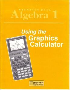 19Algebra I - Graphics Calculator