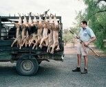 SOUTH AFRICA. Beaufort West. 2006. Jaco is paid by local farmers to kill jackals which are seen as pests.