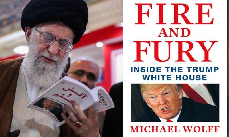 خامنائی کی ٹرمپ مخالف کتاب پڑھتے تصویر،نئی بحث کا آغاز
