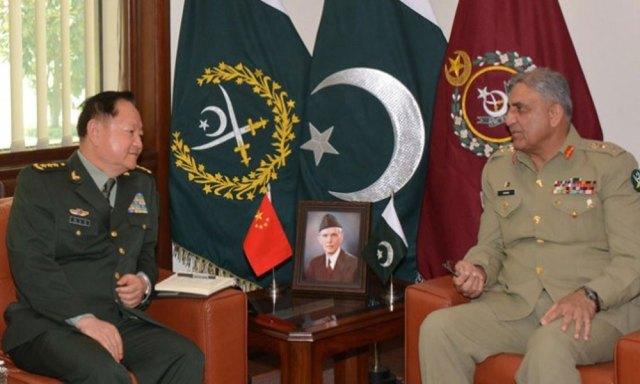 آرمی چیف سے چینی ملٹری کمیشن کے وائس چیئرمین کی ملاقات