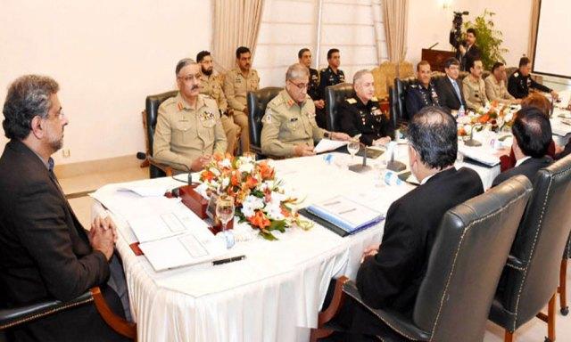 وزیراعظم کی زیرصدارت قومی سلامتی کمیٹی کا اجلاس