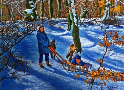 'Babes In The Wood' (2009), oil on canvas, 60 x 80cm