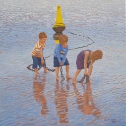 'The Haulers' Oil on canvas (2012), 80cm x 80cm