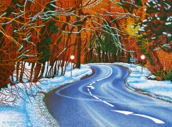 'The Road' (2011) oil on canvas, 60 x 80cm