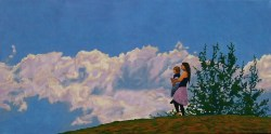 'The Sound of the Combine' (2010) Oil on canvas, 50cm x 100cm x 5cm
