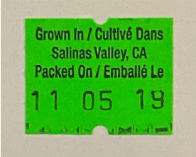 lettuce label from Salinas, Calif