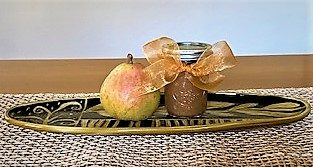 jar of pear butter with pear