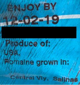 blue lettuce sticker