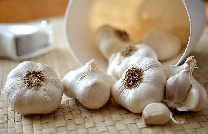 heads of garlic and cloves