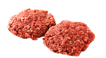Two ground beef patties
