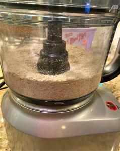 Oat flour inside food processor