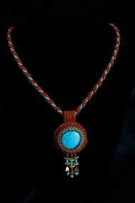 Turquoise and Terracotta Large Cabochon