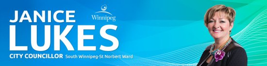 Janice Lukes, Councillor South Winnipeg – St.Norbert Ward