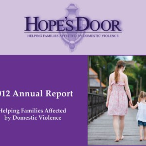 Hope's Door annual report design