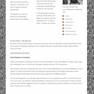 patricia Florence website Redesign