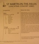 Click for a link to March Concerts at St Martin-in-the-field