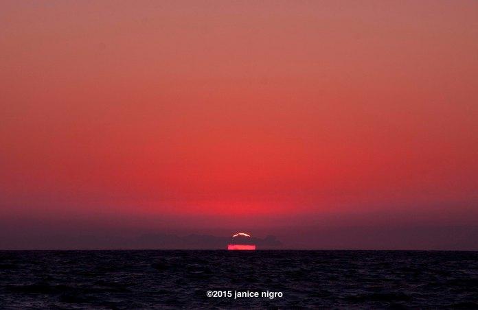 hermosa beach sunset 3463 copyright