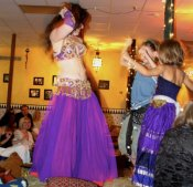 Janim dances with two of her little princesses!