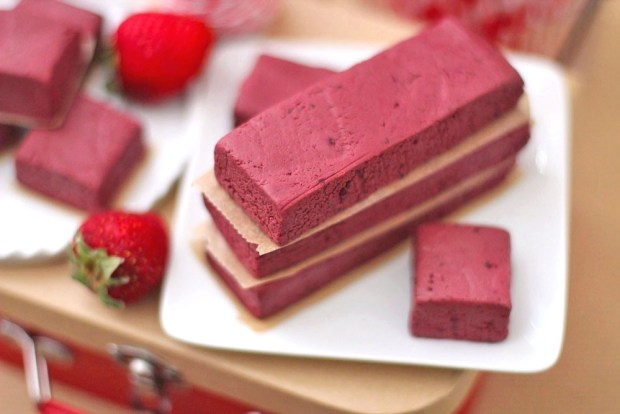 Healthy Red Velvet Fudge Protein Bars from Desserts With Benefits