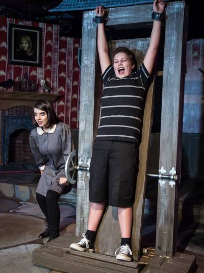 """A shot from """"Pulled"""" from The Addams Family Musical"""