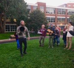 Austin Williams is the leader of Divest NU. Just about every day this week the organization has hosted rallies where they inform students about what divestment is, how it impacts them and the role their university plays in this.