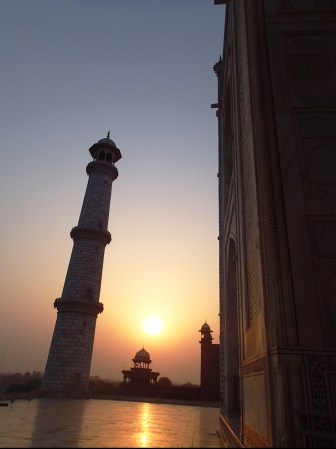 Sunrise from the Taj Mahal