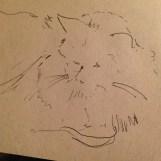 cat sketch A5 sepia paper £10