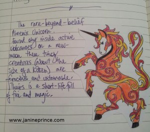 Journal image of phoenix unicorn freebie