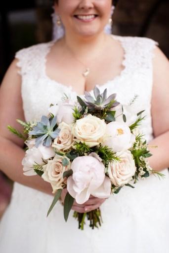 succulent bouquet, winter wedding, lake of the ozarks, wedding flowers, janine's flowers, camdenton, osage beach, lake ozark