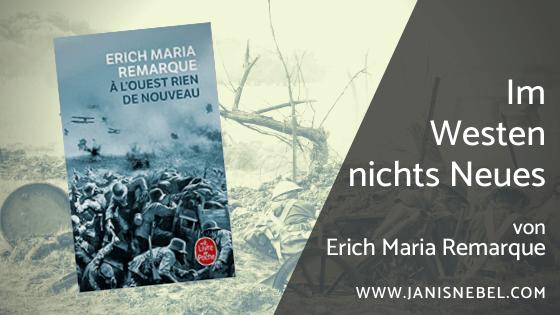 Im Westen nichts Neues von Erich Maria Remarque