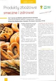 """Artykuł """"Produkty zbożowe smaczne i zdrowe!"""" dla Nowej Wsi Europejskiej - 1"""