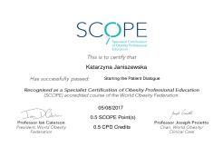 Starting the Patient Dialogue. Specialist Certification of Obesity Professional Education (SCOPE)
