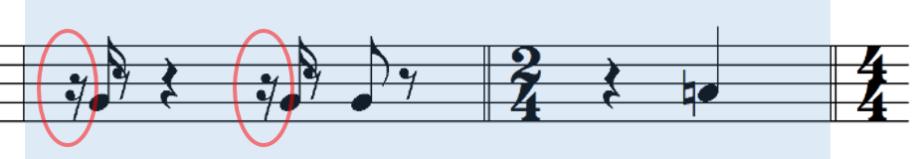 熱視線サビ前楽譜ベース