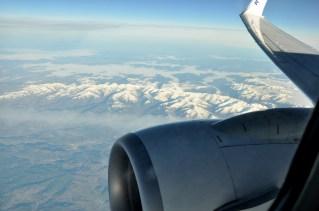 Najlepszy moment -> ponad Ziemią, ponad chmurami, ponad górami :) Gdzieś nad Pirenejami?
