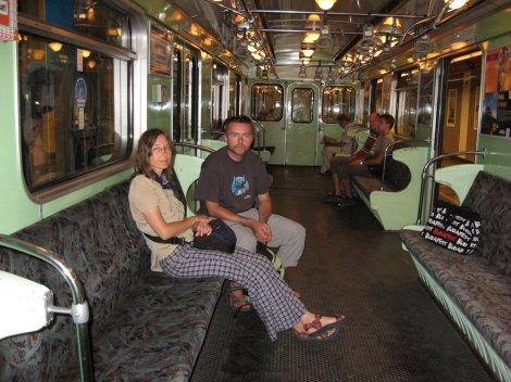 Metro gdzieś między Budą a Pesztem.