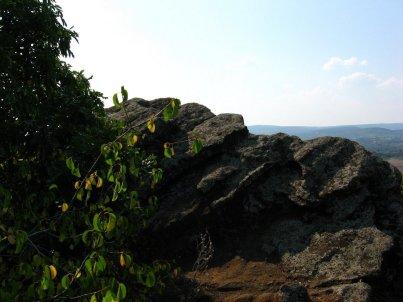 Bazaltowe tufu wulkaniczne.