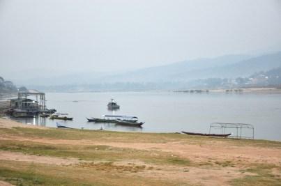 Nam Khong, czyli Mekong po raz pierwszy, granica Tajlandia/Laos, Chiang Khong (bardzo północna Tajlandia).