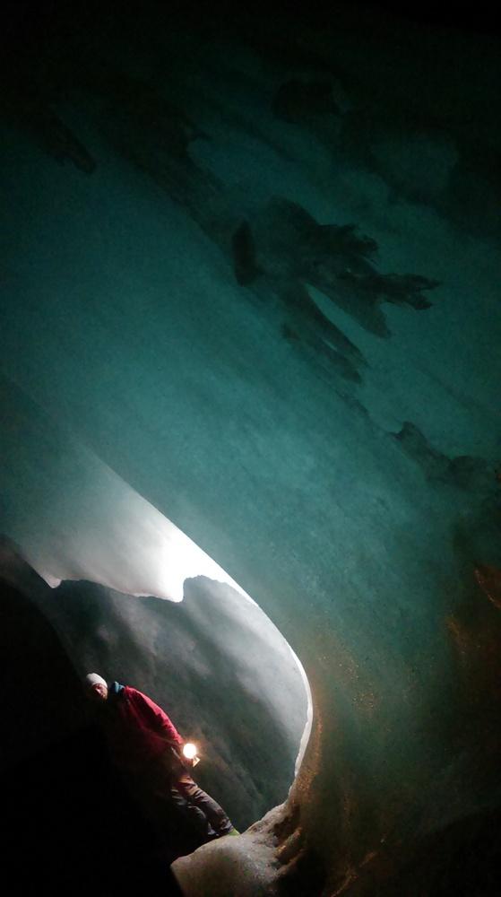 Jaskinia lodowa Eisriesenwelt. Lód deszczowym latem, świetny pomysł...