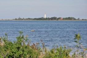 Północny czubek Olandii, latarnia Långe Erik.