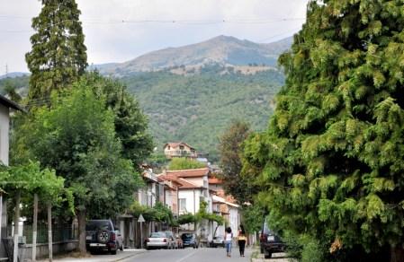 Góry i miasteczko Riła.