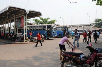 Dworzec autobusowy w Vientiane.
