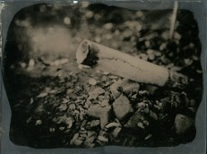 """Our old dead chimney, Ambrotype, 8x10"""", 20131102"""