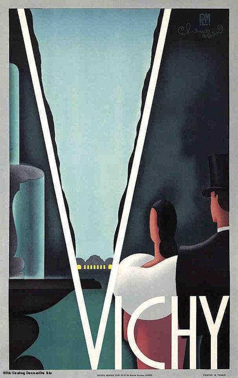 art deco travel posters