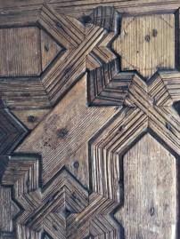 Wooden door carving