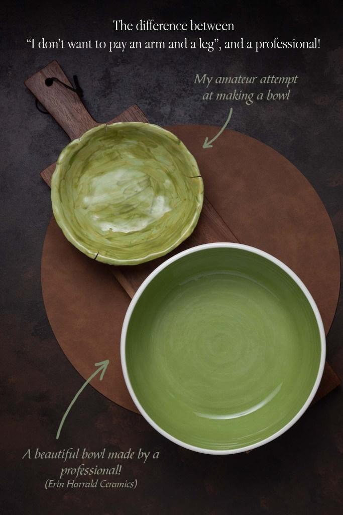 green bowl, pro vs amateur, product