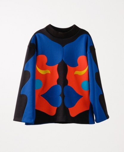 Multicolor patchwork sweatshirt