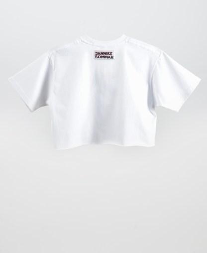 Kissing t-shirt in white