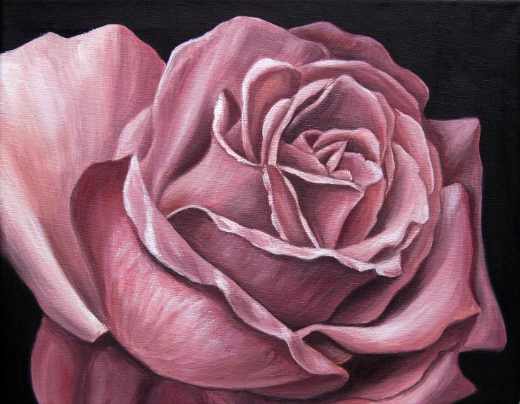 Rose Ölbild Malerei Gemälde Kunst Janny Cierpka