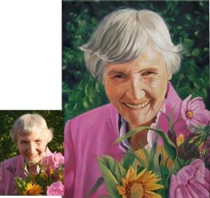 Ihr Portrait vom Foto als Ölportrait